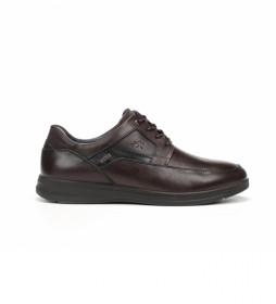 Zapatos de piel Orson F0911 castaño