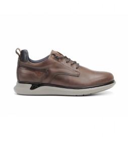 Zapatillas de piel Cooper F0966 marrón