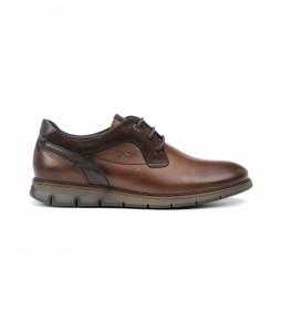Zapatos de piel Kiro F0979 marrón