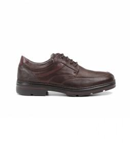 Zapatos de piel Murray F1045 castaño
