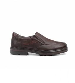 Zapatos de piel F1046 castaño