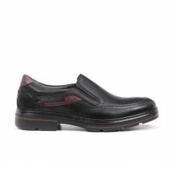 Zapatos de piel F1046 negro