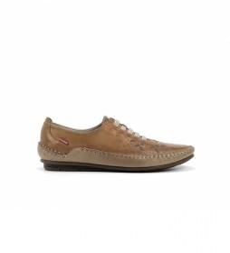 Zapatos de Piel F1181 marrón