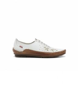 Zapatos de Piel F1181 habana blanco