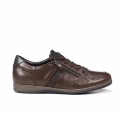 Zapatos de piel Daniel F1280 Habana marrón