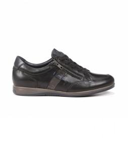 Zapatos de piel Daniel F1280 Habana negro