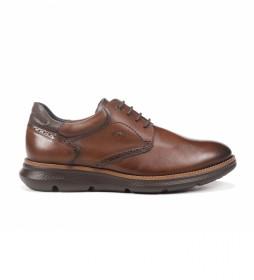 Zapatos de piel William F1351 marrón