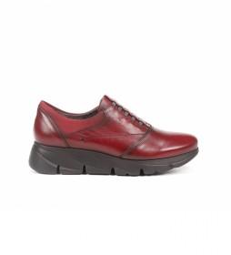 Zapatos de piel Bona F1357 rojo
