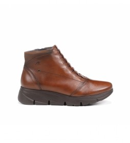 Botines de piel Bona F1358 marrón