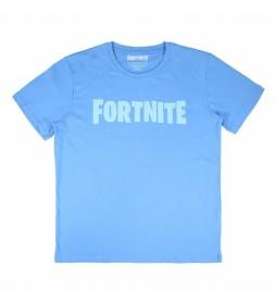Camiseta Corta Single Jersey Fortnite azul