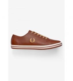 Zapatillas de piel Kingston marrón