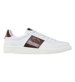Zapatillas de piel B721 blanco