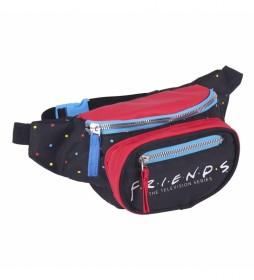 Riñonera Friends negro -19.5x13.0x2.5cm-