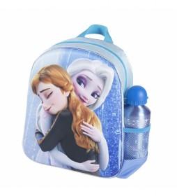 Mochila Infantil 3d Frozen azul -25x31x10cm-