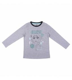 Camiseta manga larga Frozen II gris