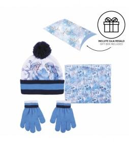 Pack de gorro, guantes y bufanda Frozen II azul