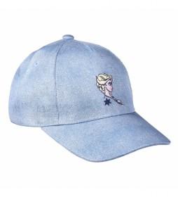 Gorra Premium Bordado Elsa Frozen azul
