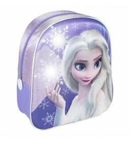 Mochila 3D Frozen II lila