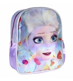Mochila Infantil Personaje Brillante Frozen 2 lila -26x31x10cm-