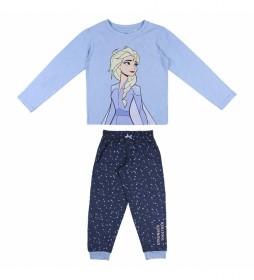 Pijama Largo Frozen II azul