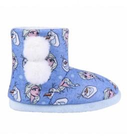 Zapatillas De Casa Bota Frozen II azul