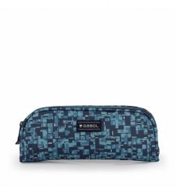 Estuche Doble Swim azul -22x8x6cm-