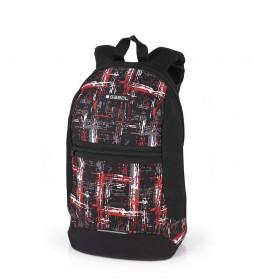 Mochila Tucson negro, rojo -25.5x38.5x15cm-