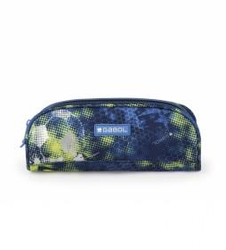 Estuche doble Coach azul - 22x8x6cm