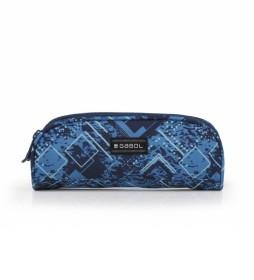 Estuche doble impermeable Iggy azul -  22x8x6cm