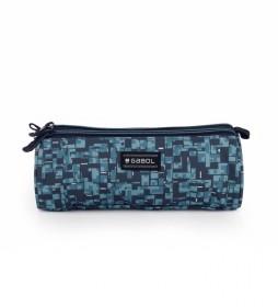 Estuche triple Swim azul - 22x7x7cm
