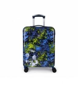 Maleta Trolley Coach azul  - 40x55x20cm