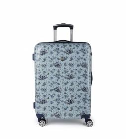 Maleta trolley mediana Betsy azul - 44x64x25cm