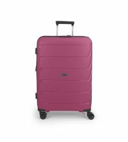 Maleta Trolley mediana Sakura rosa - 45x66x27cm