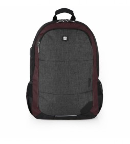 Mochila Direct gris, negro-34x46x20cm-