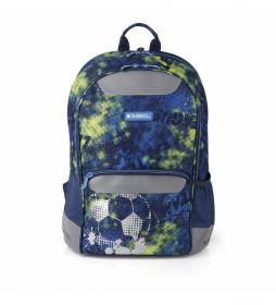 Mochila escolar Coach azul - 32x42x18cm