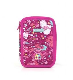 Estuche plumier Toy rosa -15x22x4cm-