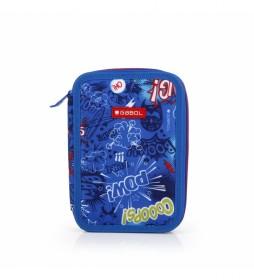 Estuche plumier Bang azul -15x22x4cm-