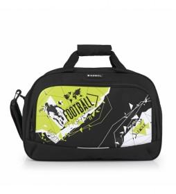 Bolsa de Viaje Derby negro, amarillo -45x30x22cm-