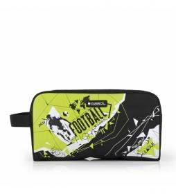 Zapatillero Derby negro, amarillo -30x16x14cm-