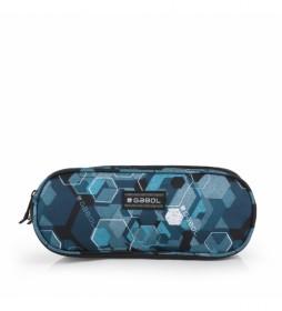 Estuche Hexon azul -22x9x9cm-