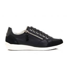 Zapatillas  de piel D Myria negro