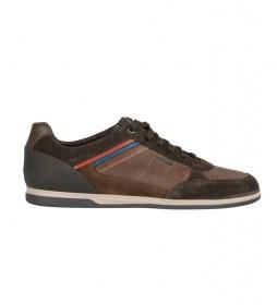 Zapatillas de piel Renan  marrón