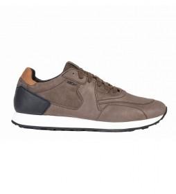 Zapatillas de piel Vincit marrón