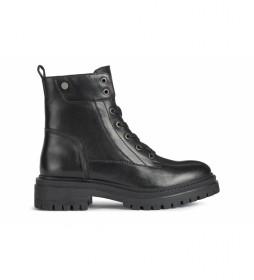 Botas de piel Iridea negro