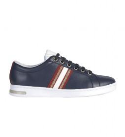 Zapatillas de piel Jaysen azul