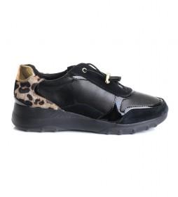 Zapatillas de piel Alleniee negro