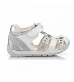 Sandalias de piel Primi Passi blanco, plateado