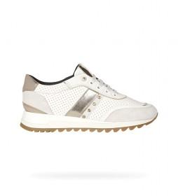 Zapatillas de piel Tabelya blanco