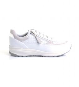 Zapatillas de piel D Bloomie blanco, nude