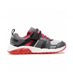 Zapatillas J Spaziale gris, rojo
